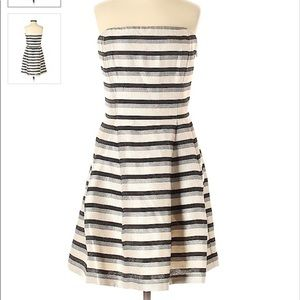 RACHEL Rachel Roy mini strapless striped dress 6